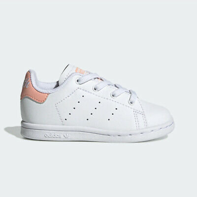 Adidas EE7596 infant toddler Stan smith I baby shoes white pink kids