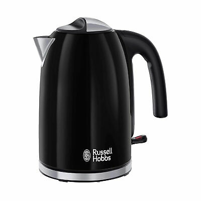 Russell Hobbs 20415 Colours Plus Kettle 3000W 1.7L - Black (with Rapid Boil)