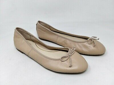 New! Women's Circus by Sam Edelman Charlotte Leather Ballet Flats - Nude B63