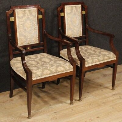 Chairs,French Couple Chairs Art Deco Furniture Living Room Wood Mahogany Golden