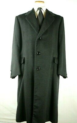 Vintage Hickey Freeman Pure Cashmere 100% Overcoat Top Coat Fits as 40