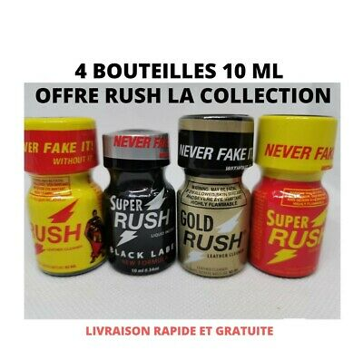 poppers rush stimulant aphrodisiaque libido collection 4 bouteilles 10 ml