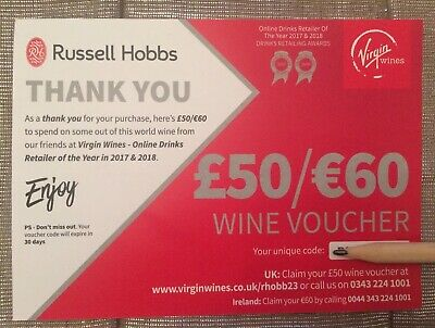 VIRGIN WINES Discovery Wine Club Voucher Money Off 12 Bottle Case Coupon €60 £50