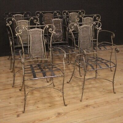 8 Setee Chair Furniture for Living Room Garden Antique Style Iron Vintage 900