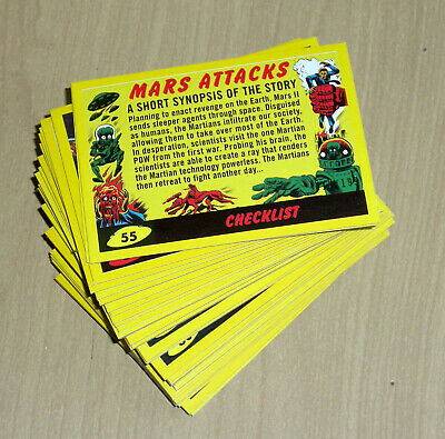 2017 Topps MARS ATTACKS Revenge YELLOW 110-card set 55 base+55 pencil art+ BOX