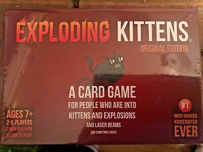 New and Sealed Exploding Kittens Original Edition Card Game Age 7+