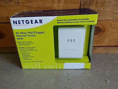 Netgear XE103 85 Mbps Wall-Plugged Ethernet Adapter Powerline 1 Port