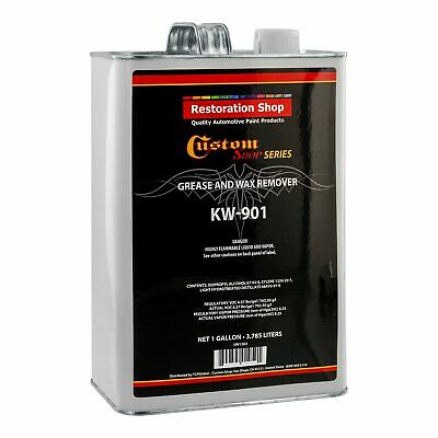 Custom Shop KW901 Automotive Grease and Wax Remover Gallon Surface Prep Cleaner