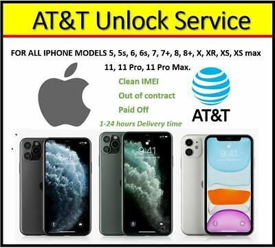 At&T Unlock Service For All Models - Instant Delivery 1-24 Work Hours
