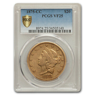 1875-CC $20 Liberty Gold Double Eagle VF-25 PCGS - SKU#167946