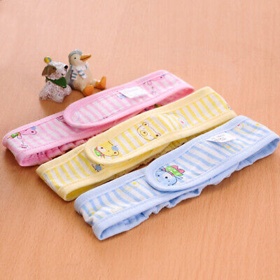 Newborn Baby Diaper Fasteners Cute Cotton Nappy Fixed Belt Lot Colors LP