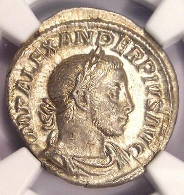 Roman Severus Alexander AR Denarius Coin 222-235 AD - NGC Choice AU Condition