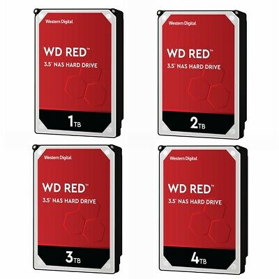 "WD Red 1TB 2TB 3TB 4TB NAS Hard Disk Drive Western Digital 5400RPM 3.5"" SATA HDD"