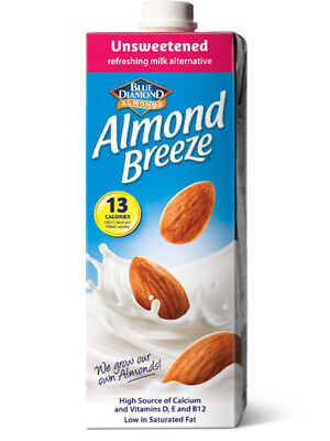 Almond Breeze Milk Unsweetened 1 Litre (Blue Diamond)