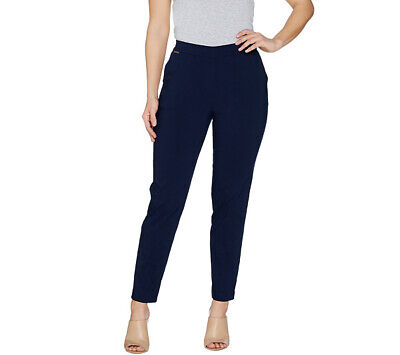 A301160 GRAVER Susan Graver Ultra Stretch Pull-On Slim Leg Ankle Pants-649