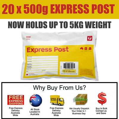 20 x Prepaid 500g (5kg) Satchel Small Australia Express Post -- Posts by Express