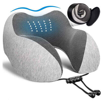 U Shaped Soft Memory Foam Travel Pillow Neck Support Head Rest Airplane Cushion