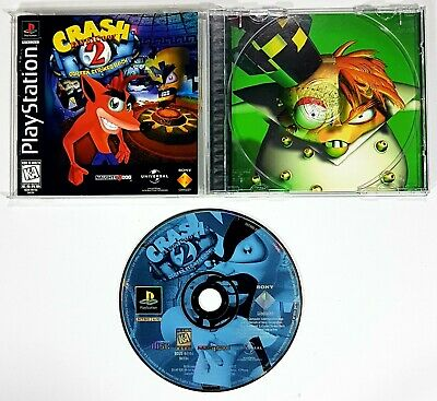 Sony PLAYSTATION Crash Bandicoot 2 Cortex Strikes Back US Ntsc Boxed 3D 'N Run