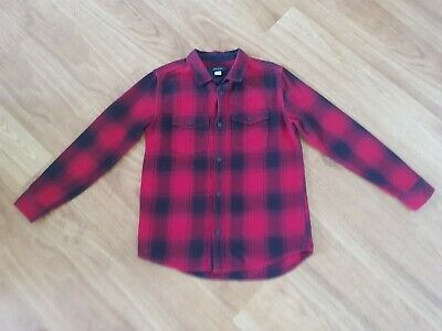 RIVER ISLAND ~ Boy's Red & Black Checked Casual Shirt ~ Age 10 Years ~ VGC