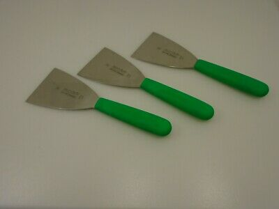 Dexter USA Set of (3) Green Handle Dishwashers Pot Pan Scrapers S293 Stainless
