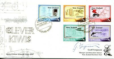New Zealand 2007 Clever Kiwis - Limited Edition Signed FDC Cover