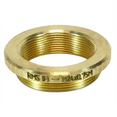 Bronze flangeless Female Thread Adapter 0.7 M28x0.75 Male to M26x0.75