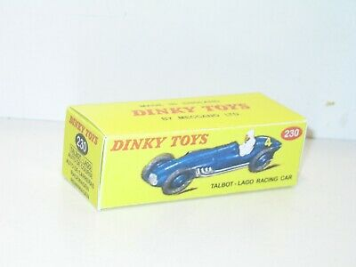 232 lot 6 boites vides repro DINKY 23H 231 23C 230 235 racing car n75