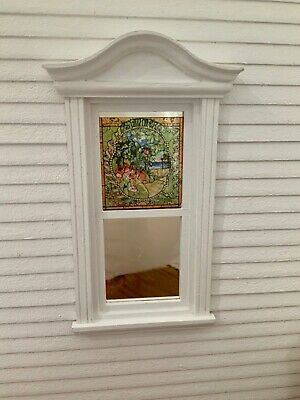 Summer  Dollhouse Miniature Victorian  Stained Glass Window Film