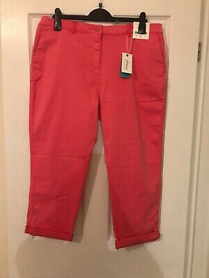 Brand New With Tag Joules Womens Hesford Crop Rosehip Chinos Size 18 Summer
