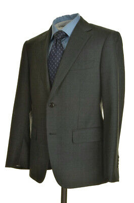 SUITSUPPLY Napoli Gray SUPER 110's WOOL Jacket Pants SUIT Mens - 38 S