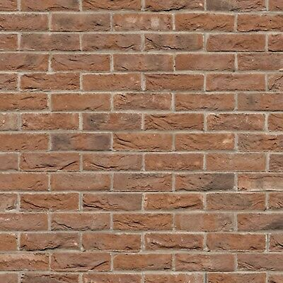 1:12 Scale A3 Dolls House Embossed Weathered Brick Wallpaper 48.5cm x 31cm 759b