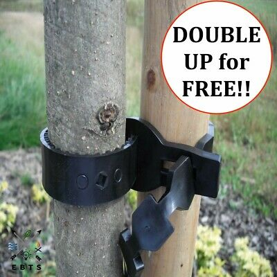 Heavy Duty Soft Rubber Tree Ties Straps Plant Stake Support Bareroot Protection