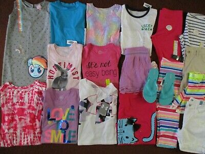 NWT Girls HUGE Size 10 12 SPRING SUMMER SCHOOL Name Brand Clothing Lot  NEW