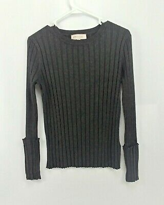 Philosophy Republic Clothing Womans Charcoal Sweater size Medium