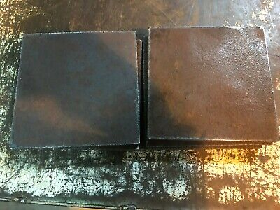 "3/8"" Steel Sheet Plate 6"" x 6""  rusted 8 pieces set"