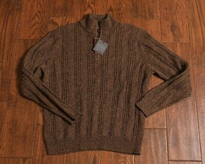 Nwt! Tasso Elba Men's Brown Pullover Sweater Size Large L