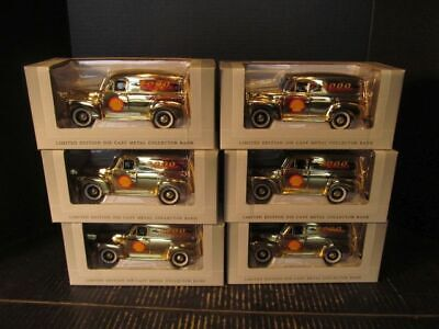 SpecCast 1952 Chevrolet Panel Truck Shell Oil Collector Banks Case of 6 ca. 2000