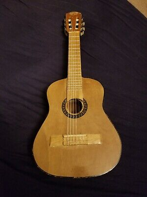 Vintage Paracho Small Acoustic Guitar Handmade in Michoacan Mexico (old & used)