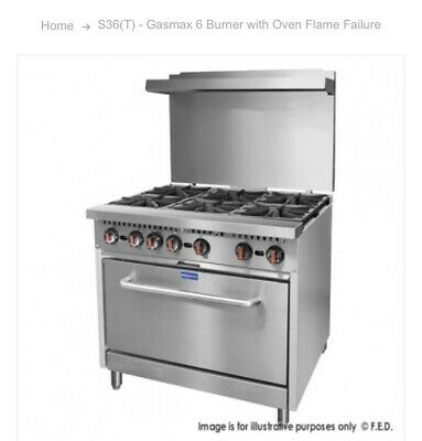 Gas max commercial gas stove - brand new
