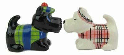 Collectable Novelty Scottish Dog in Tartan Salt & Pepper Shakers - New in Box