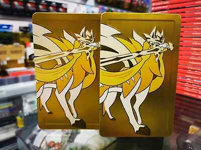Switch Pokemon Sword and Shield Gold Steelcase Steelbook (No Game) HARD TO FIND
