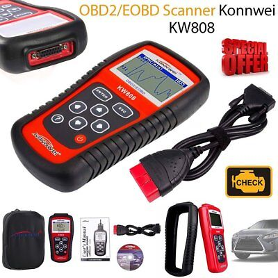 FREESOO OBD2 Scanner OBDII Reader KW808 Auto Car Diagnostic Code Scan Tool for US//Asian//European Vehicles