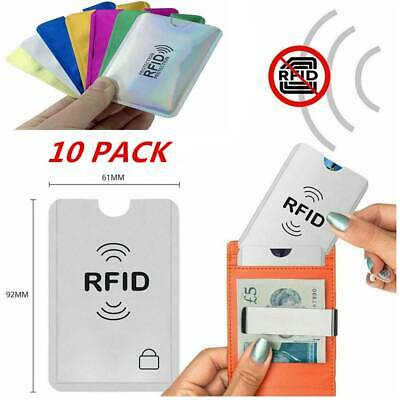 10pc/set RFID Blocking Sleeve Credit Card Protector Bank Card Holder Wallets HOT
