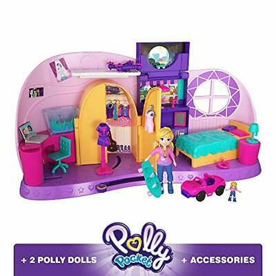 Polly Pocket Fry98 Polly's Go Tiny Room Playset Micro Polly Doll Concert Stage