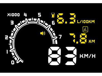 Head up Display HUD 55C für OBD2 Anschluss