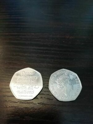 2020 Uk Brexit 50P Fifty Pence Brand New From Uncirculated Bag!!