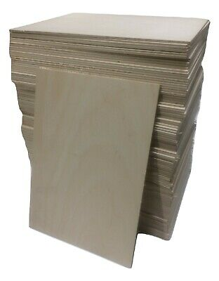 FSC Birch Ply Plywood Boards all sizes 3mm 4mm 6mm for Craft Laser Pyrography