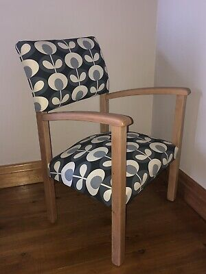 Cute Vintage Mid Century Chair Orla Kiely - Suit Small Space Or Childs Room