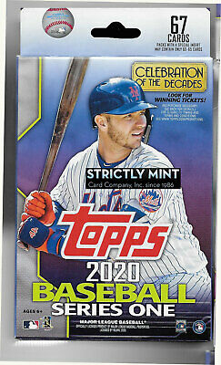 10 Box Lot  2020 Topps Baseball Series One 67 Card Hanger Boxes  Possible  Autos