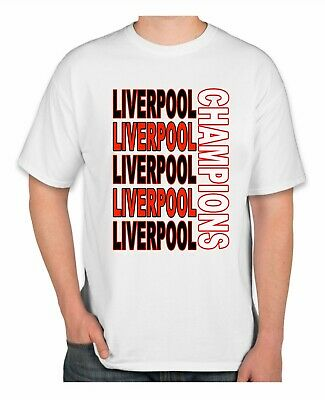 Liverpool Champions 2020 football t shirt premier league  epl 2019 tee ADULT